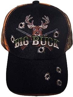 Big Buck Deer Hunting Baseball Caps Hats Embroidered (HuntCap107 Z)