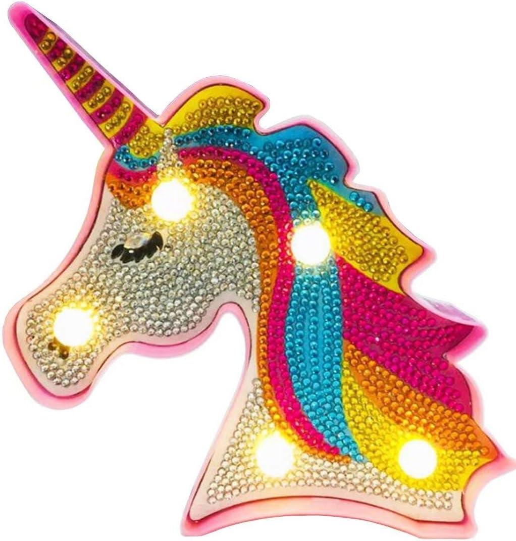 Kids Diamond Painting Mosaic Sticker Art Kits Night Light Unicor