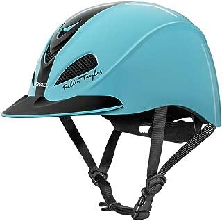 Fallon Taylor Troxel Turquoise Racer Horse Riding Helmet Low Profile Adjustable