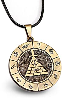 Gravity Falls Bill Cipher Necklace Cosplay Costume Pendant Accessories for Boys Men Women