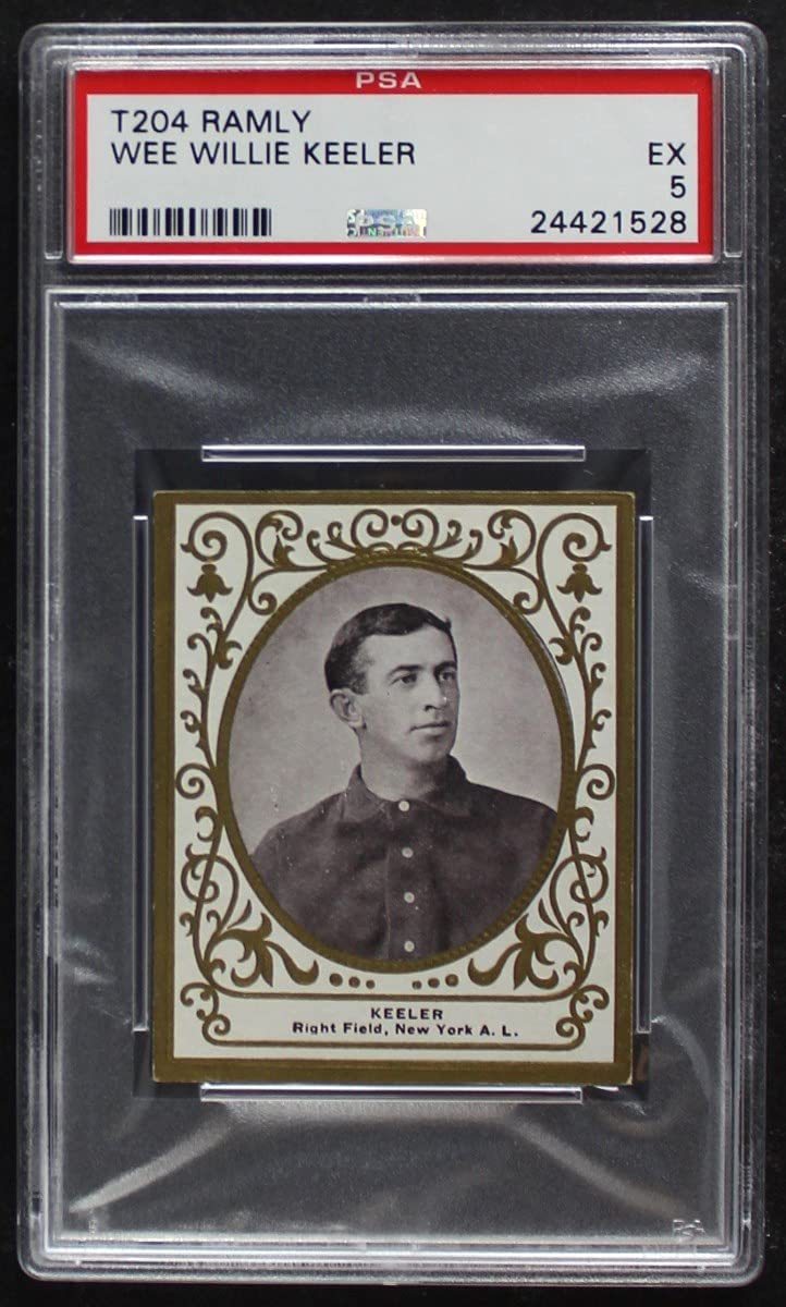 1909 T204 Ramly Willie Keeler New Baseball Ranking TOP2 Courier shipping free Yankees York P Card
