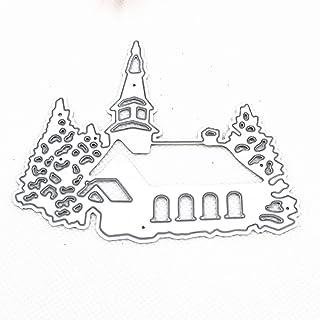 AIUIN Matrices de Découpe, Scrapbooking Matrice Découpe, Gabarit de Découpe Pochoir Noël Modèle de Maisons dans La Neige p...