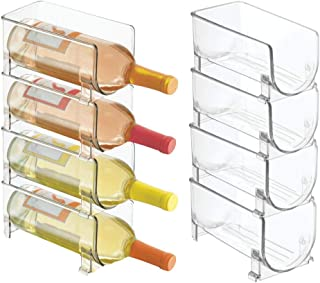 mDesign (Lot de 8 Range Bouteille Moderne – casier à Bouteilles superposable pour Bouteilles d'eau et gourdes – Support po...