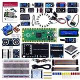 GeeekPi Raspberry Pi Pico - Kit de programación de micropitón con Raspberry Pi Pico, módulo de pantalla LCD I2C 1602, matriz de 8 x 32 puntos para Raspberry Pi principiantes e ingenieros de software