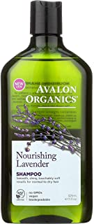 Avalon Organics Lavender Nourishing Shampoo, 11-Ounce Bottle (Pack of 3)