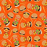 GRAPHICS & MORE Hamburger Cheeseburger Pattern with Fries and Bacon Premium Roll Gift Wrap Wrapping Paper