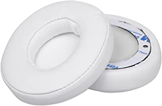 2Pcs Replacement Earpads Ear Pad Cushion for Beats Solo 2 / 3 On Ear Wireless Headphones White
