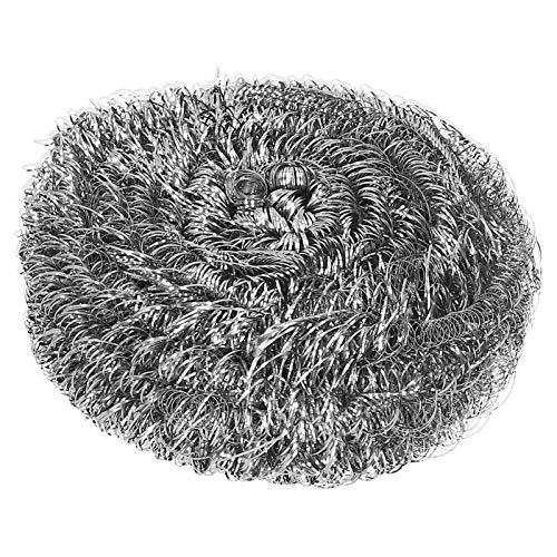 Esponjas de acero inoxidable estropajos plato cuenco olla cepillo para fregar bola de alambre de acero herramienta de limpieza de cocina 20 piezas