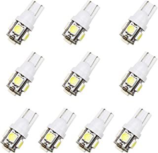 Jacana Boutique 10pcs/lot T10 Car LED Trunk Light 5050 W5W 5 SMD 194 168 LED Autuo Side Wedge Tail Light License Plate Lamp Bulb Car-styling