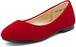 Girls' Flats - Red / Flats / Shoes