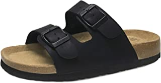 Women's Double Strap Thong Genuine Leather Footbed Insole Flat Sandals(Up to 20% Coupon)