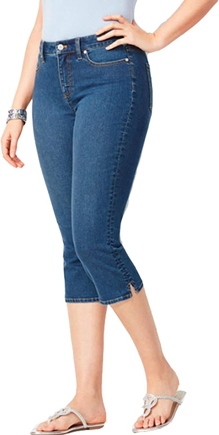 S&S Capri Jeans for Women Stretch Mid-Rise Slim Fit Pull-on Capris Skinny Jeans