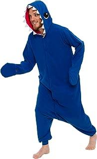 Unisex Adult Pajamas - Plush One Piece Cosplay Shark Animal Costume