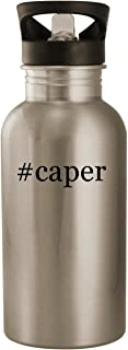 #caper - Stainless Steel Hashtag 20oz Road Ready Water Bottle, Silver