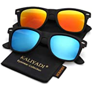 Polarized Sunglasses for Men and Women | Matte Finish Sun glasses | Color Mirror Lens | 100% UV...