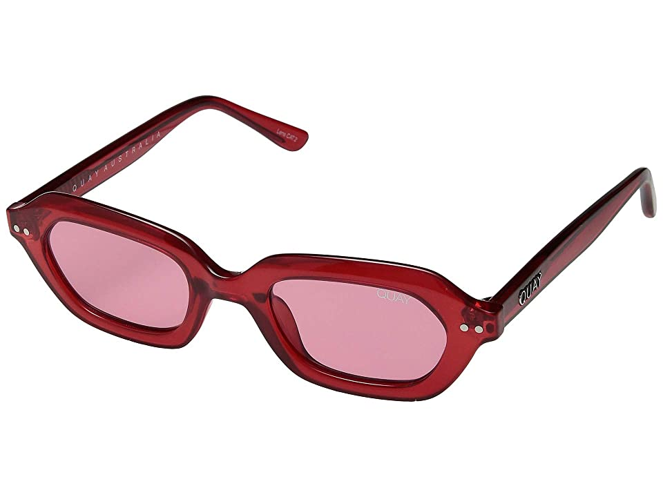 8275cec0703 QUAY AUSTRALIA Anything Goes (Red Red) Fashion Sunglasses