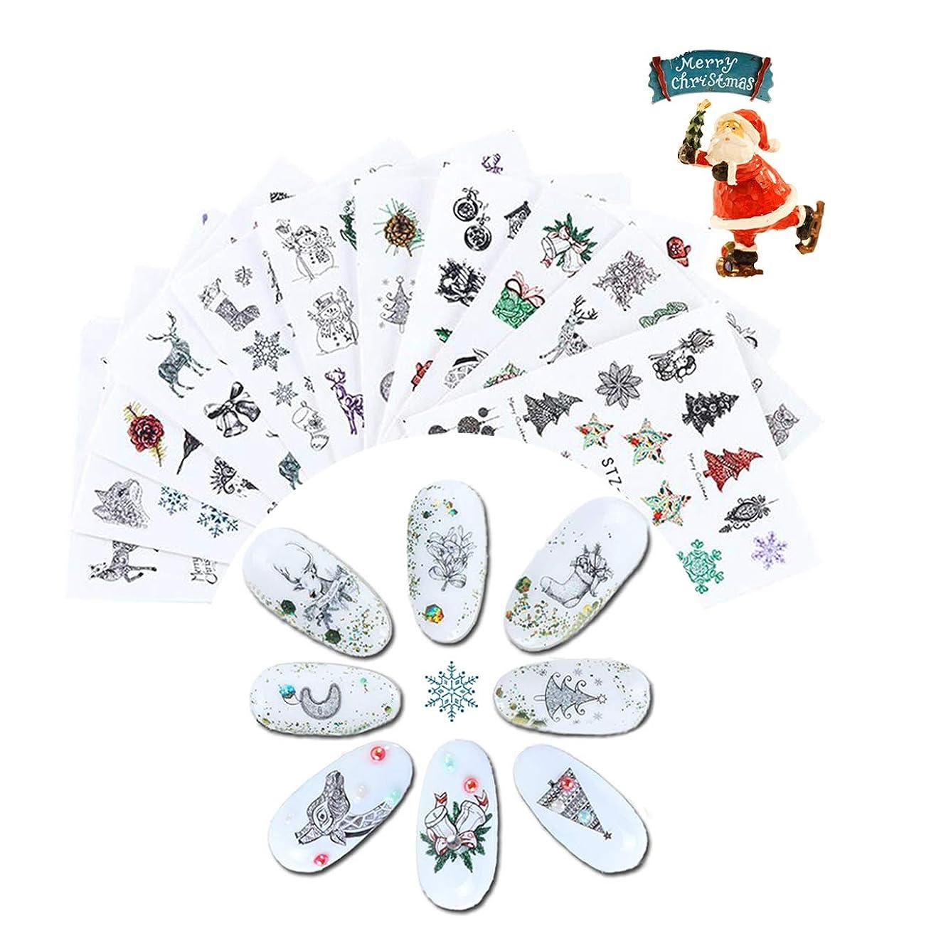 読書アイデア他の日CHIC DIARY ネイルステッカー クリスマス かわいい ネイルシール ネイルアート ネイルデコ ネイルジュエリー 鹿 雪花 サンダル