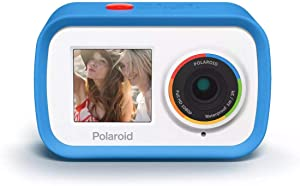 Polaroid Dual Screen Wifi Action Camera 4K 18mp, Waterproof Sports Polaroid Camera with Built in rechargeable Battery and Mounting Accessories for Vlogging, Sports, Traveling, Home Videos
