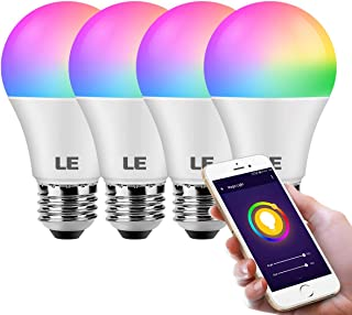 LE WiFi Smart Light Bulb Alexa, Smart Bulb Works with Google Assistant, APP Remote Control, RGBCW and CCT (2700-6500K Tuna...