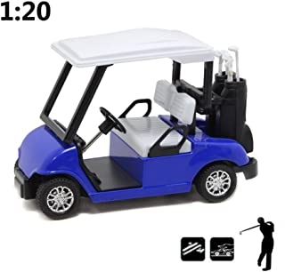 HAPTIME 4.75 inch Die-cast Metal Golf Cart Mini Pull Back Golfcart Small Motor Vehicle Toy, Great for Golf Theme Cake Topper, Birthday Gift, Room Decor