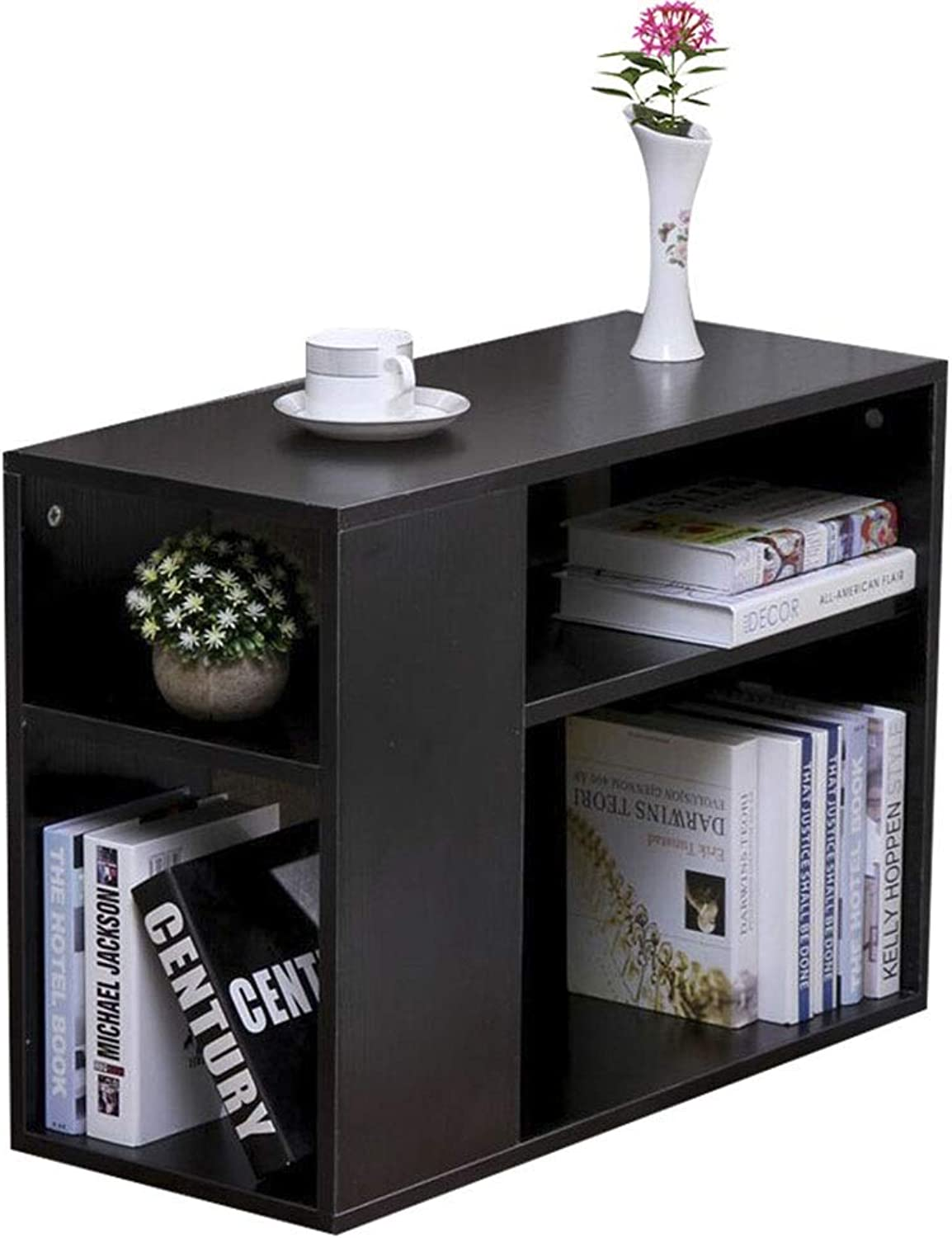 Coffee Table Side Cabinet, with Roller Solid Wood Frame Diversified Storage Double-Layer Multi-Function Rack Simple Mini Locker (Size   50  30  50cm)
