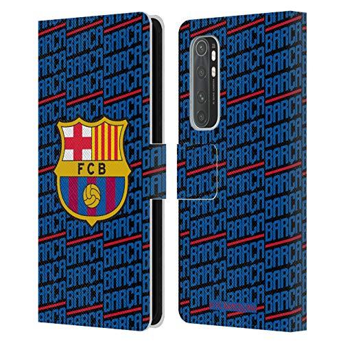 Head Case Designs Oficial FC Barcelona Barca Crest Patterns Carcasa de Cuero Tipo Libro Compatible con Xiaomi Mi Note 10 Lite