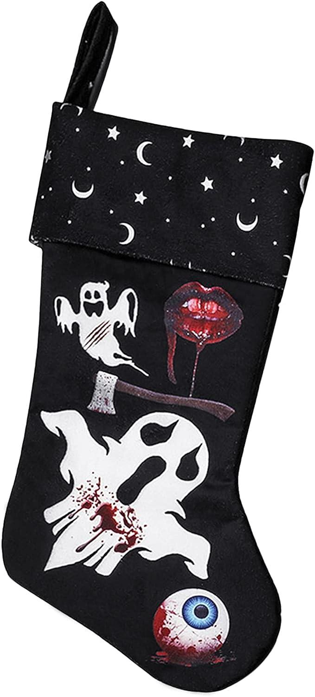 Halloween Stocking Hanging Finally resale start Socks Trick Bag or Sku Skeleton Treat safety