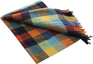 Cckuu Blanket Tassel Design Tartan Scarf Wrap Shawl Plaid Cozy Checked for Women