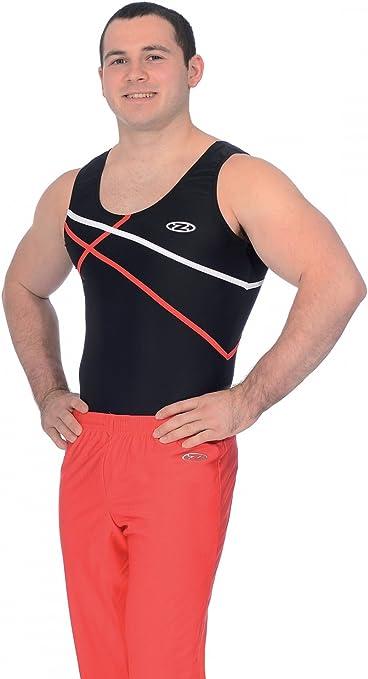 The Zone Z887ACE Round Neck Boys//Mens Sleeveless Gymnastics Leotard Matt Nylon//Lycra Blue Size 42