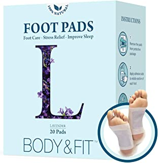 Lavender Foot Pads - Powerful Natural Ingredients, Foot Care, Healing Therapy, Stress Relief, Improve Sleep, Fast Results with FDA certified and Organic(20 Pack)