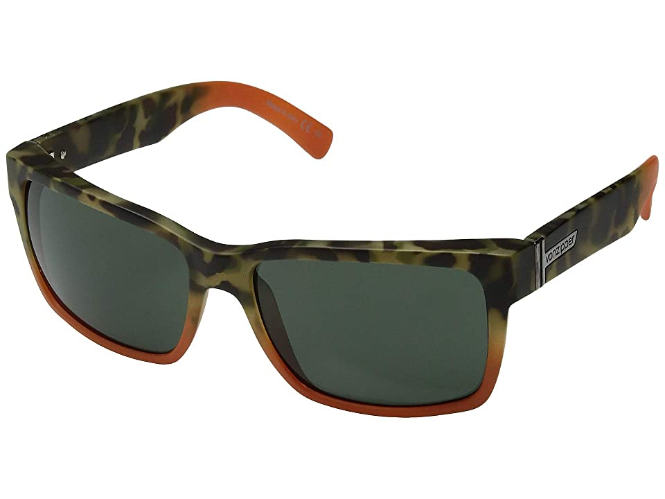 VonZipper Elmore (Camo/Orange Satin/Vintage Grey) Sport Sunglasses