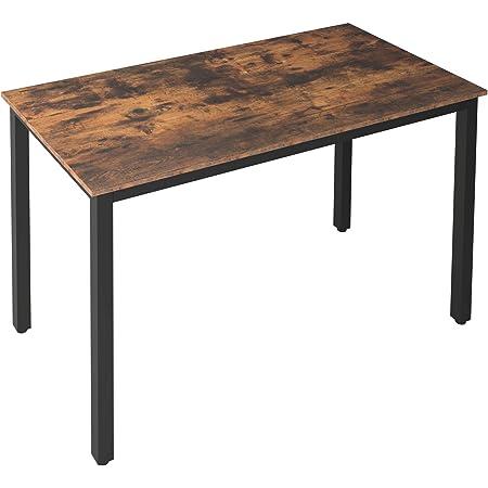 HOOBRO Table de Cuisine, Table à Manger pour 4 Personnes, Table à Dîner, 120 x 60 x 77 cm, Style Industrielle, Cadre en Métal, Stable, pour Salle à Manger, Marron Rustique EBF12CZ01