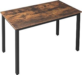 HOOBRO Table de Cuisine, Table à Manger pour 4 Personnes, Table à Dîner, 120 x 60 x 77 cm, Style Industrielle, Cadre en Mé...