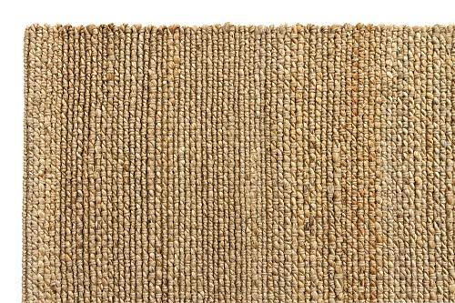 HAMID Juteteppich - Giralda Teppich 100% Natürliche Jutefaser - Weicher Teppich und Hohe Festigkeit - Handgewebt - Wohnzimmer, Esszimmer, Schlafzimmer, Flurteppich - Natürlich (170x120cm) - 3