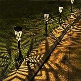 LeiDrail Solarlampen für Außen Garten LED Solar Gartenleuchten Metall Solarleuchten für Außen Warmweiß Wasserdicht Deco für Garten Patio Rasen Terrasse 4 Stück