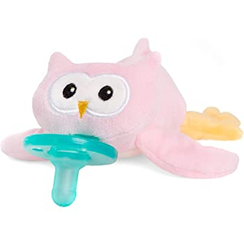 WubbaNub Infant Pacifier - Pink Owl