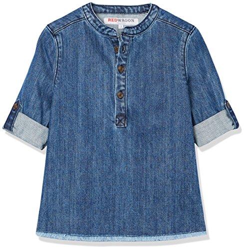 Amazon-Marke: RED WAGON Jungen Jeanshemd mit hochgerollten Ärmeln, Blau (Blue), 104, Label:4 Years