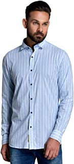 ID Men Blue Slim Fit Shirt