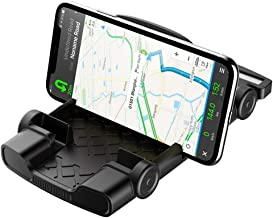 Anti-Slip Car Phone Mount Holder Cradle Dock Stand Silicone Dashboard Holder for Car Compatible for iPhone, Samsung, Android Smart Phones, GPS Devices and More (Black)