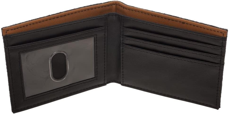 Bioworld Disney Star Wars Han Solo Faux Leather Outlaw Wallet, BiFold Wallet with Character Costume Appeal, Brown, OSFM