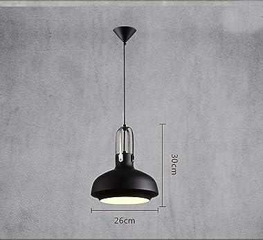 Pendant Light Personality Antique Industrial Black Pendant Lamp Iron Lampshade Round Single Head E27 Lamp Holder Creative Nor
