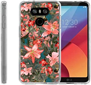 TurtleArmor | Compatible with LG G6 Case | LG G6+ Case | LG G6 Plus Case [Flexible Armor] Ultra Slim Compact Flexible TPU Case Fitted Soft Bumper Cover Girls - Captivating Pink Floral