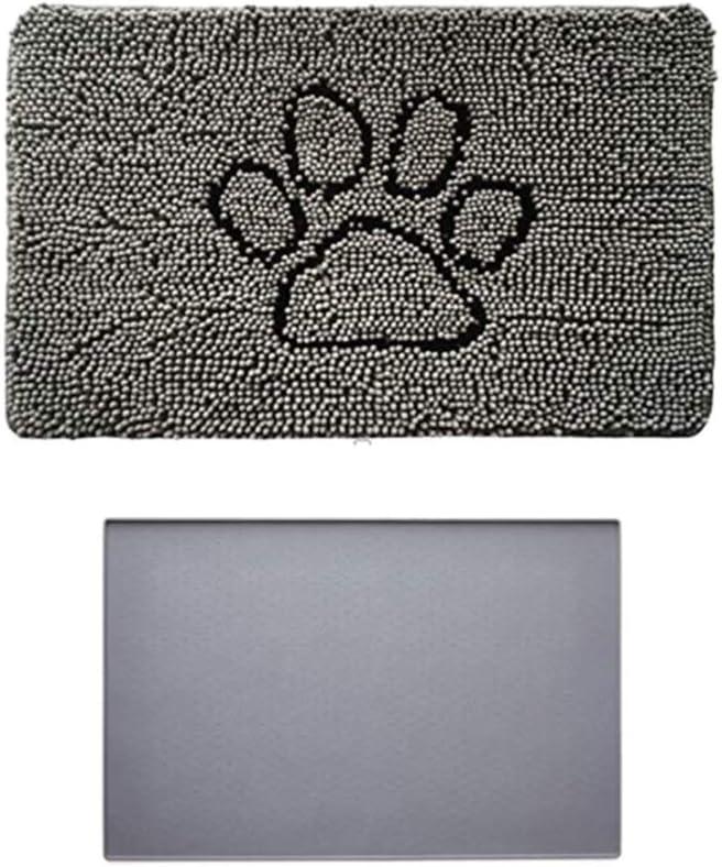 Gorilla Grip Inexpensive Indoor Doormat and Pet Feeding Gray Ranking TOP4 In Placemat in