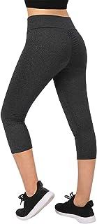 HDE Womens Scrunch Butt Lifting Capri Leggings High Waist Workout Gym Yoga Pants