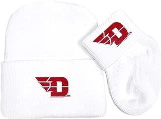 Future Tailgater Dayton Flyers Newborn Baby Knit Cap and Socks Set