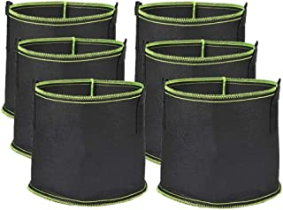 LATERN [6-pack 5 liter växtväskor, fiberduk andningsbara växtväskor kraftiga förtjockade rotluftning trädgårdskrukor behål...