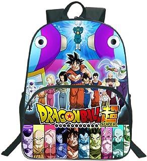 GuiSoHn Mochila de Lona para Cosplay Dragon Ball Super Z Saiyan Sun Goku Vegeta Escolar Estudiante Bolso de Escuela Backpack