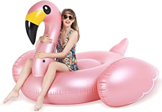 Jasonwell Giant Inflatable Flamingo Pool Float with Fast Valves Summer Beach Swimming Pool Party Lounge Raft Decorations T...