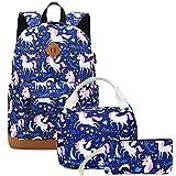 Backpacks for Girls Cute Unicorn School Bags Lightweight for 7+ years old Kids School...