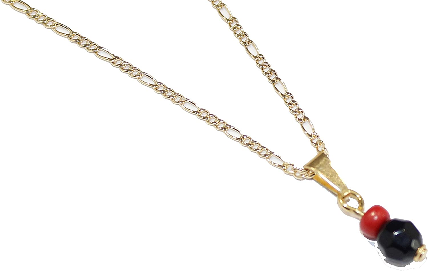 Diamantados of Florida Azabache Charm Pendant 18k Gold Plated with 18 Inch Chain - Azabache Necklace